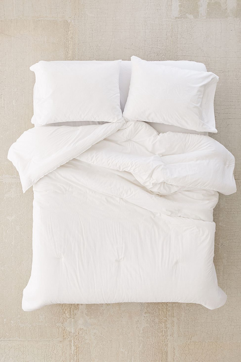 Urban Outfitters Washed Cotton Comforter Snooze Set Grey Multi Twin Xl One Size Duvet Bedding Sets Cute Bed Sheets