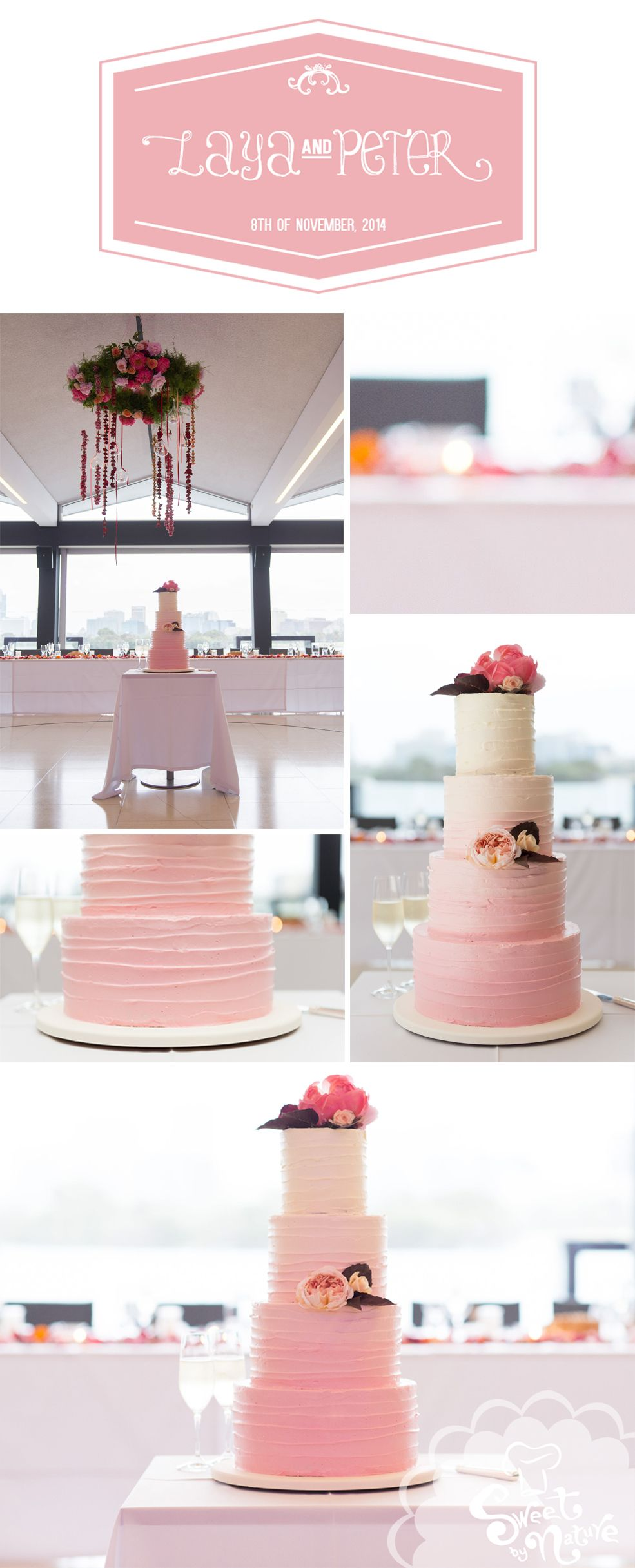 Laya And Peters Stunning Pink Ombre Wedding Cake Absolutely Beautiful Made By Sweet