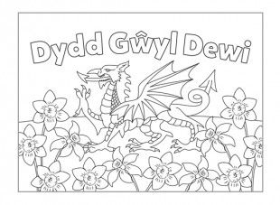 st david\'s day coloring pages | Children can colour in this card and give it to someone ...