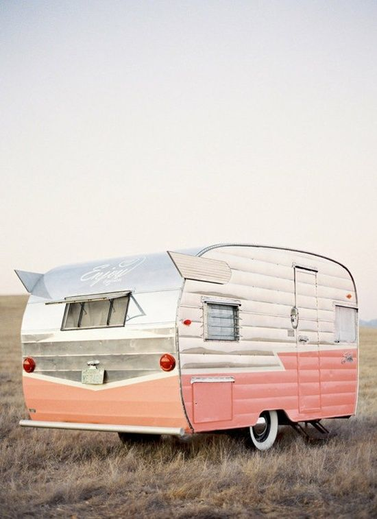 Sara Jane This Ones For You Pink Retro Camper