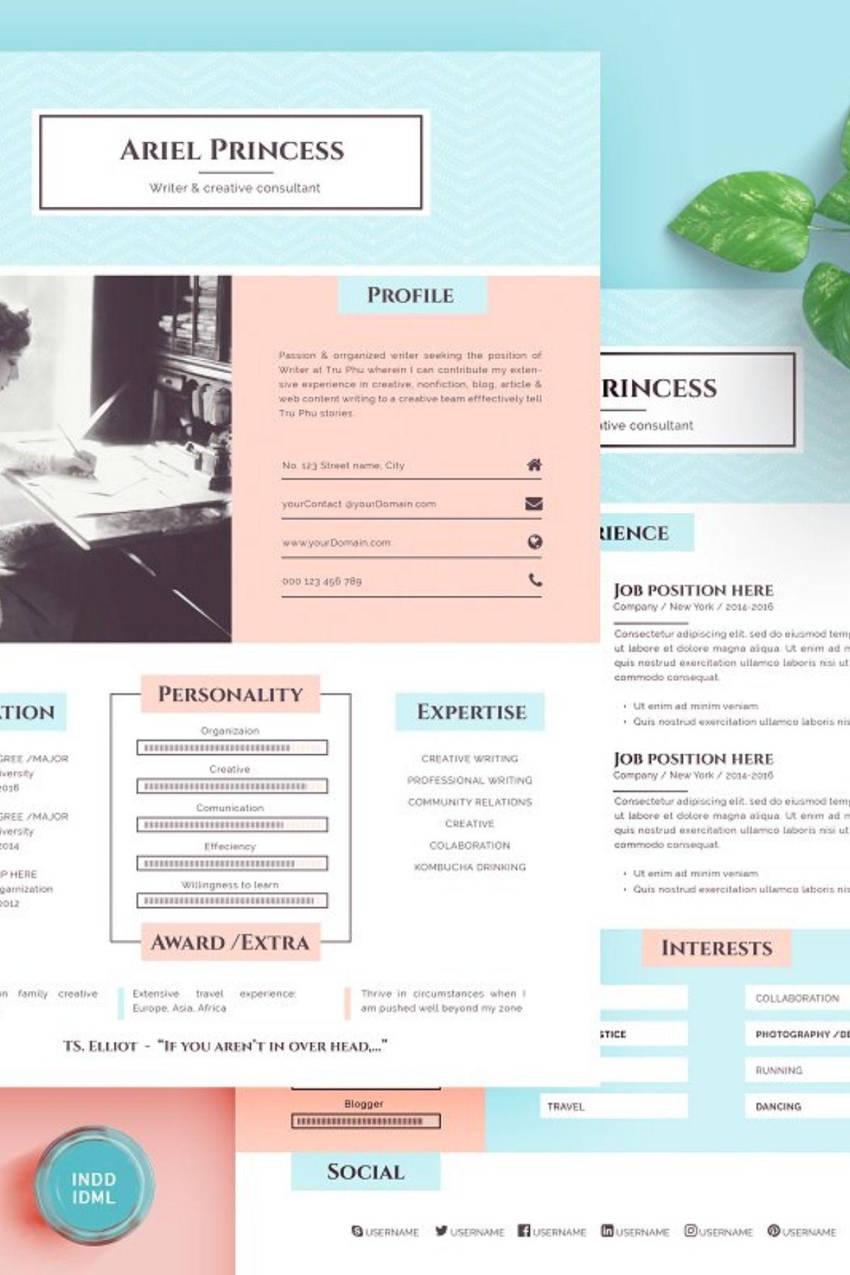 Anthology resumecv sketch support simple resume