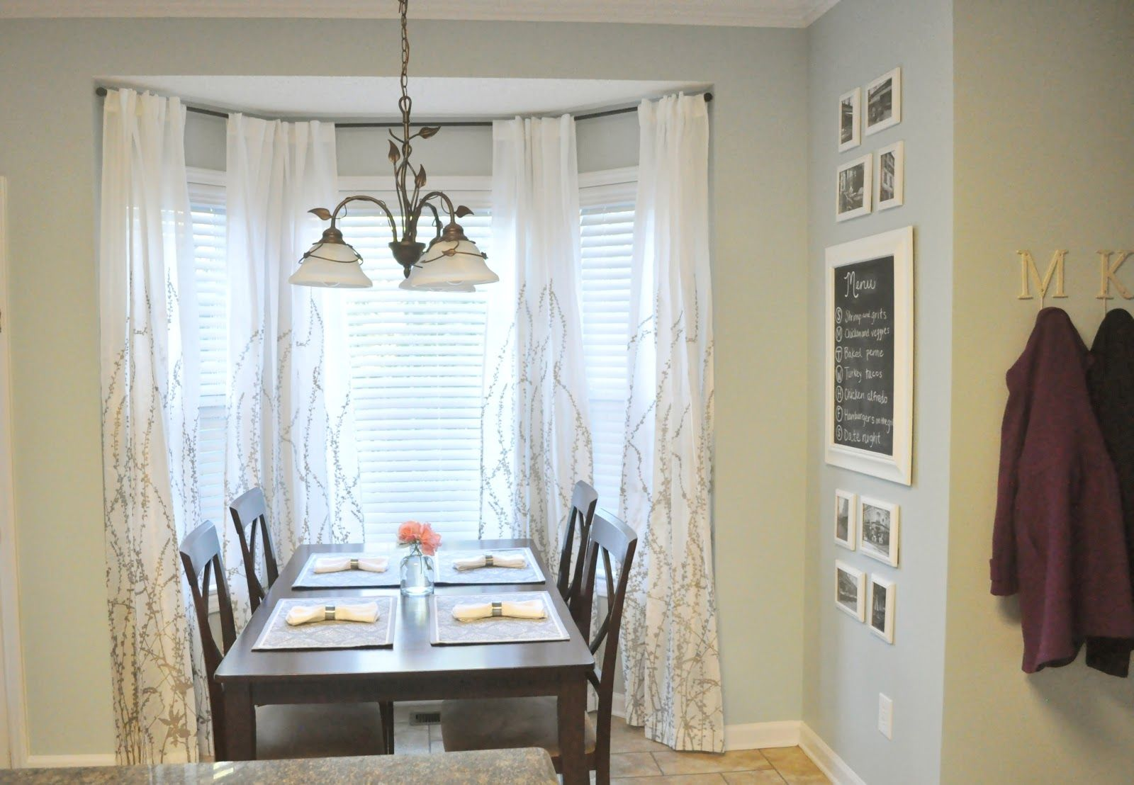 Kitchen Nook Curtain Ideas Bay Window Curtains Window