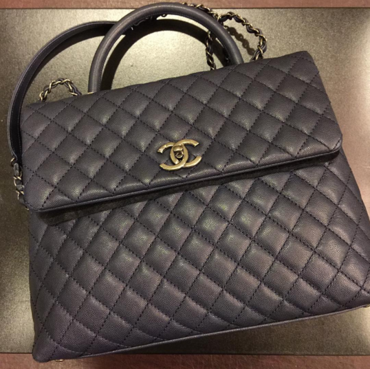Chanel Navy Coco Handle Large Bag 3  714a79a97eb33
