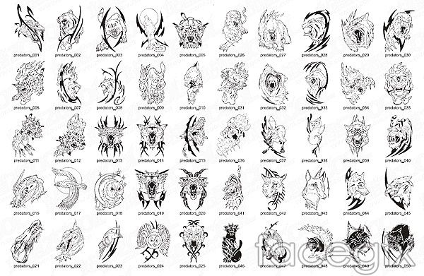 beast animal totem animals birds vector for Free Download