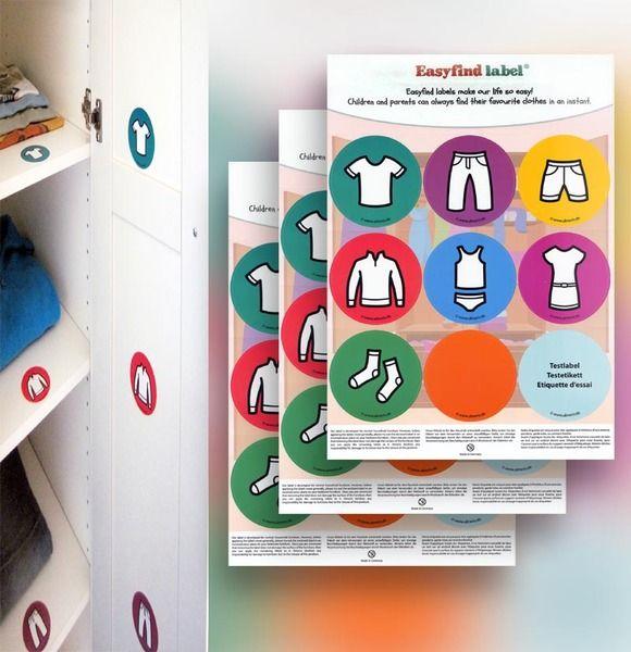Kommoden Aufkleber Als Sortierhilfe Kinder Kleiderschrank Ein