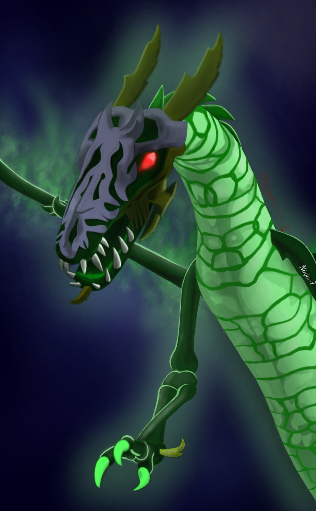 Elemental Wind Dragon Art By Ninja 7 Formerly Ninjago 7