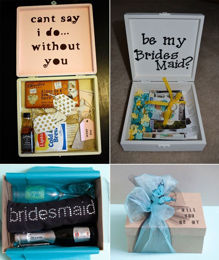 Will you be my bridesmaid gift box ideas | Favors and Gifts ...