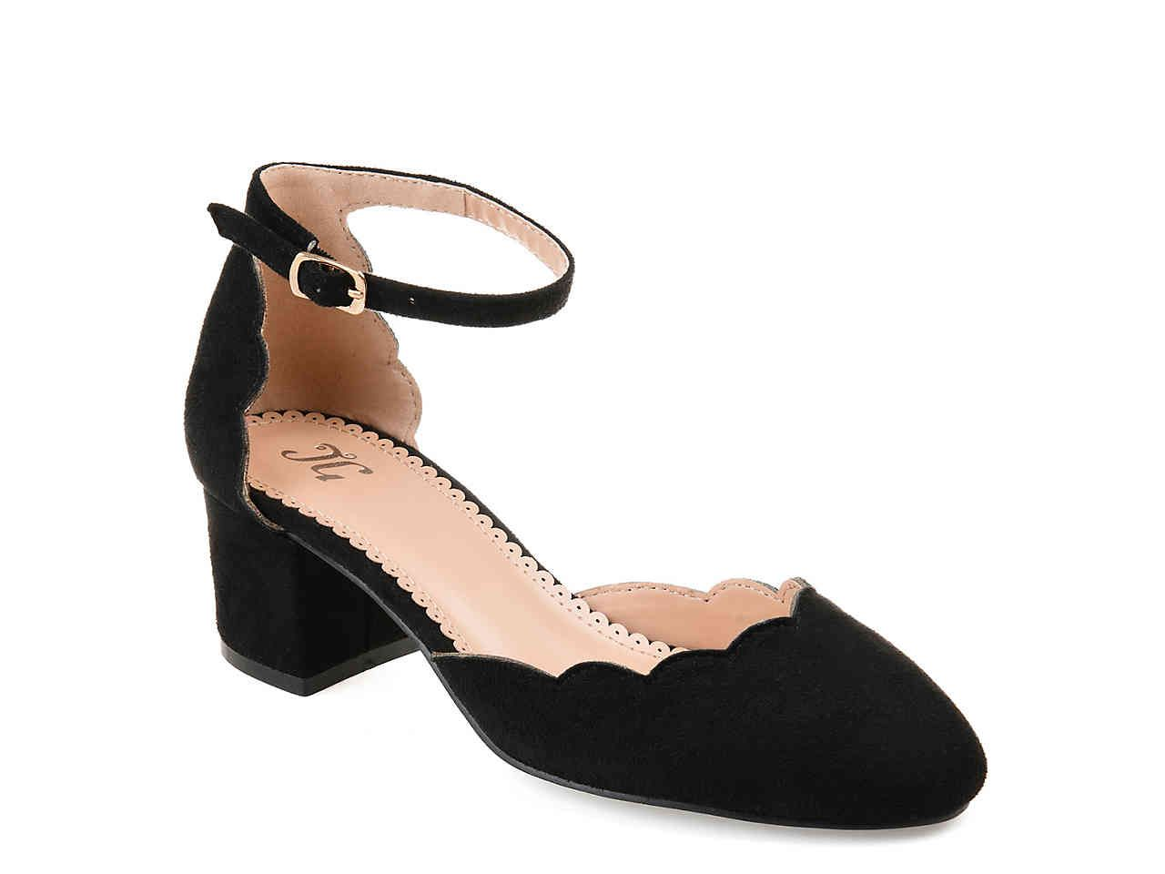 Journee Collection Edna Pump In 2020 Ankle Strap Heels Black Court Shoes Prom Shoes