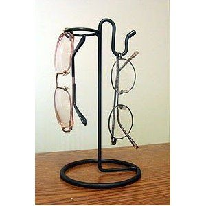 "Wire Black Eyeglass Glass Rack Holder 8 1/2"" Tall"