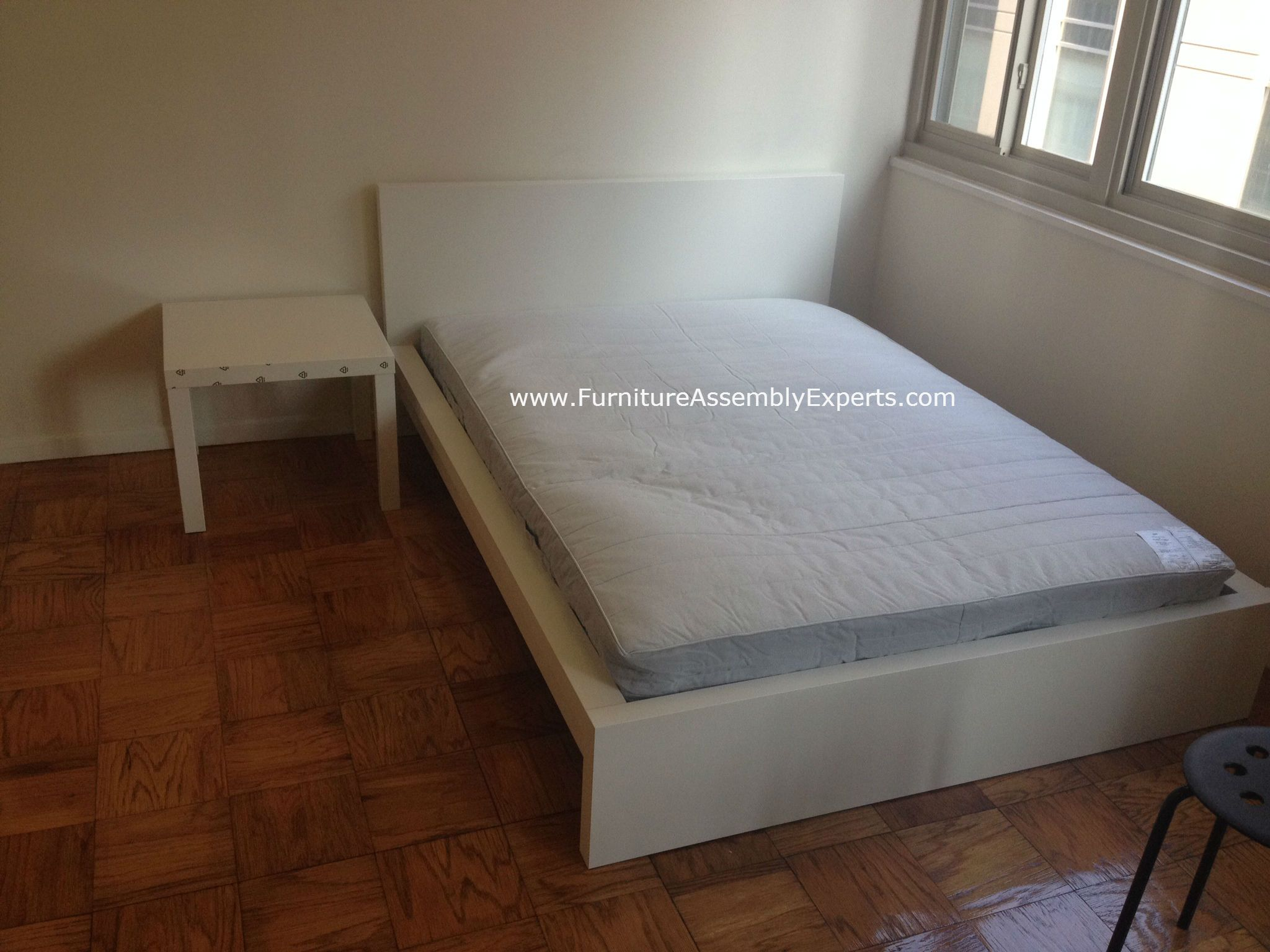 ikea malm bed and lack side table assembled in crofton md by