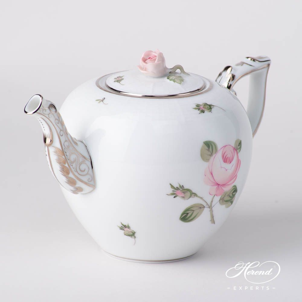 Tea Pot - Vienna / Viennese Rose Platinum | Herend Experts