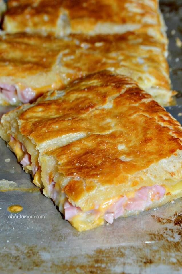 Ham and Cheese Puff Pastry Melt