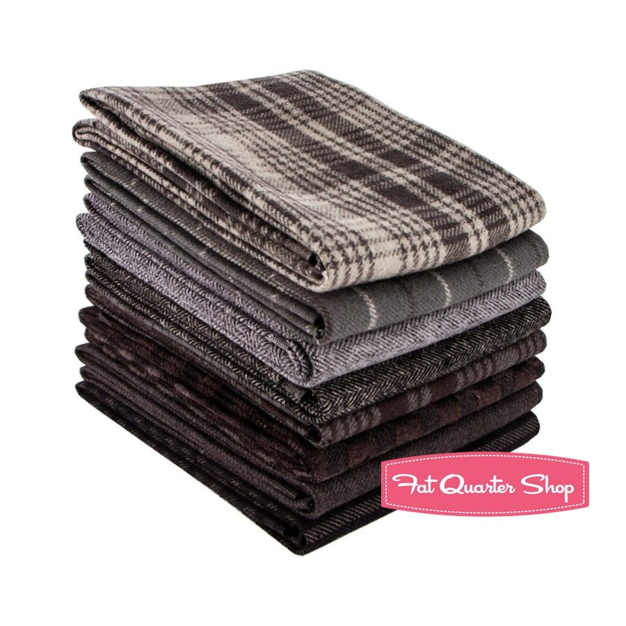 Red flannel fabric  Smokey Primo Plaids Flannel Fat Quarter Bundle Marcus Brothers