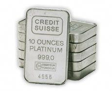 10 Ounce Platinum Bullion Bars Goldbullionbars