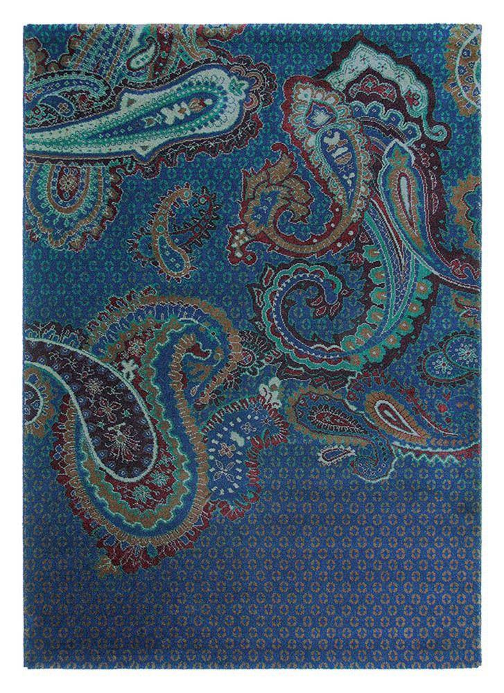 Teppich Paisgeo Blue 58608 in Blau von Ted Baker FARBTRENDS 2017