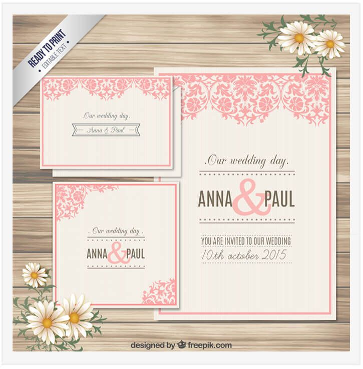 20 free wedding flyer templates in psd vector ai flyer template wedding invitation card by freepik stopboris Images