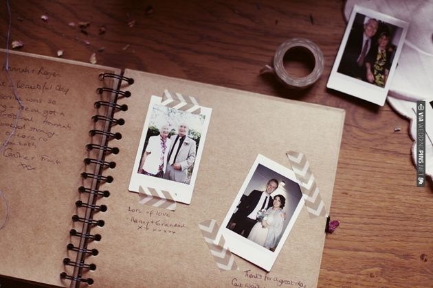 cute polaroid guest book + washi tape! | Photos by - see the full ...