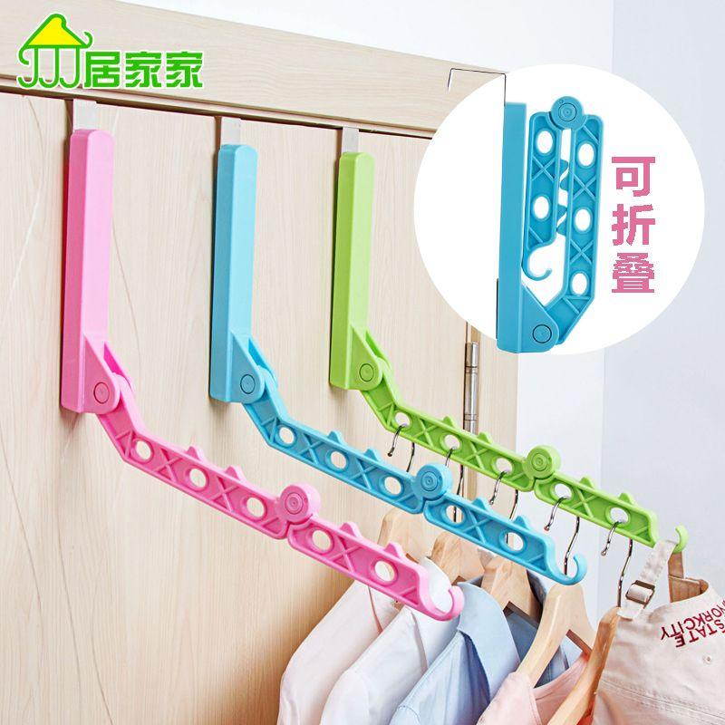 Plastic folding clothes holding hook hangers