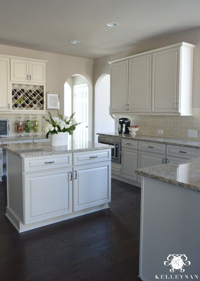 White Subway Tile Kitchen Backsplash Cream Cabinets