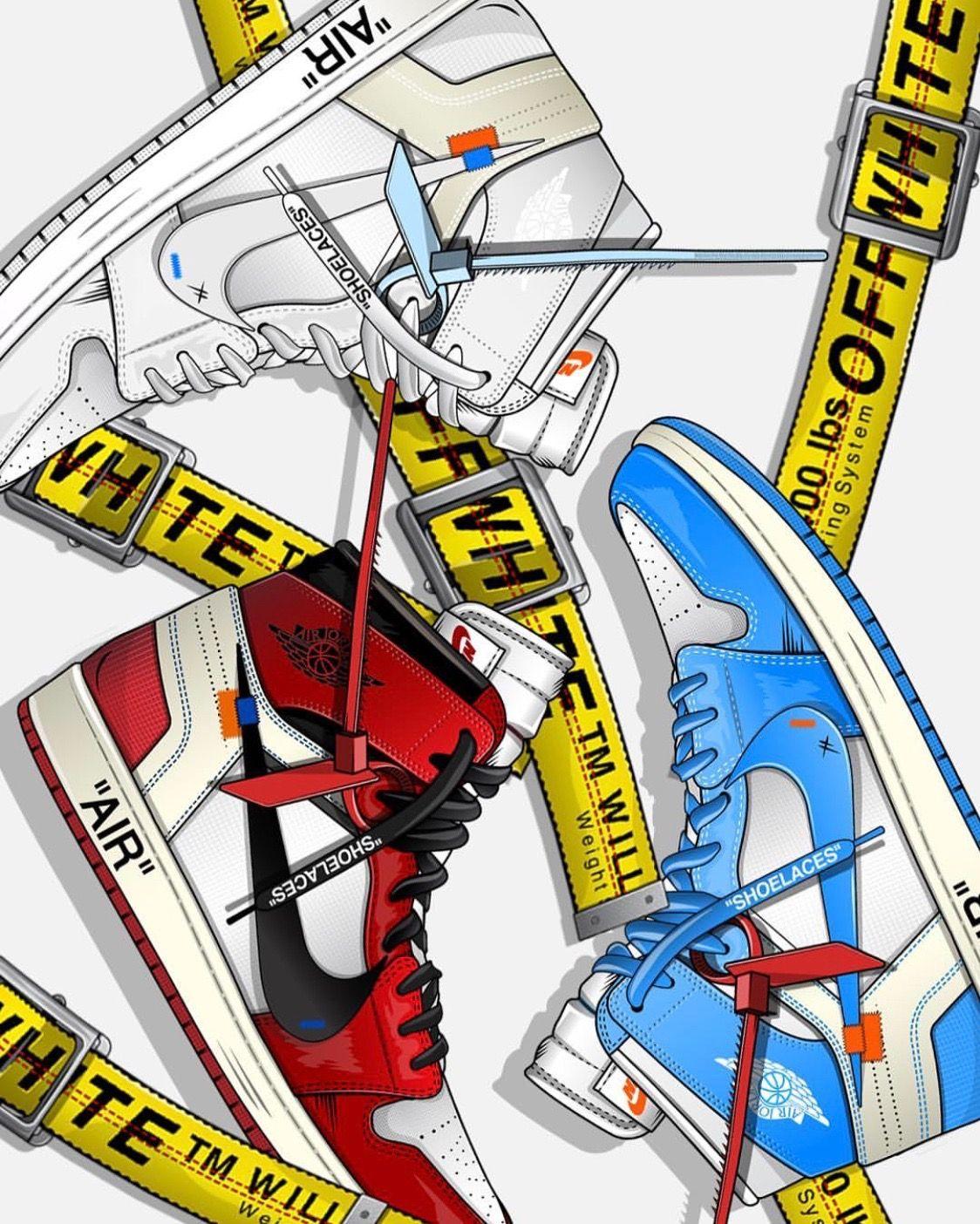 Off White Jordans Sneakers Wallpaper Shoes Wallpaper Nike Wallpaper