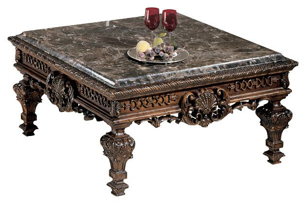 dark brown stone table top square coffee table will enhance your
