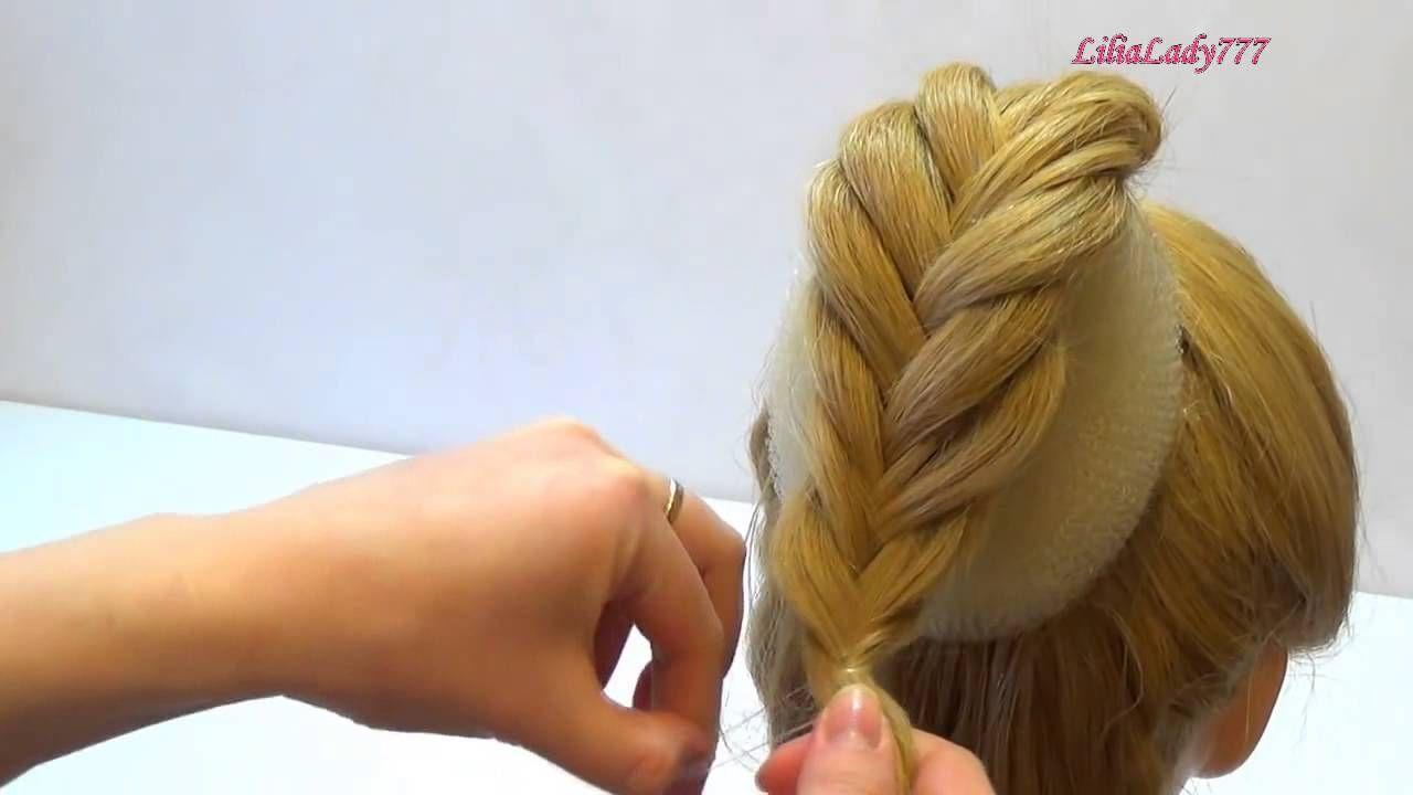 Косы на кудрявые длинные волосы своими руками