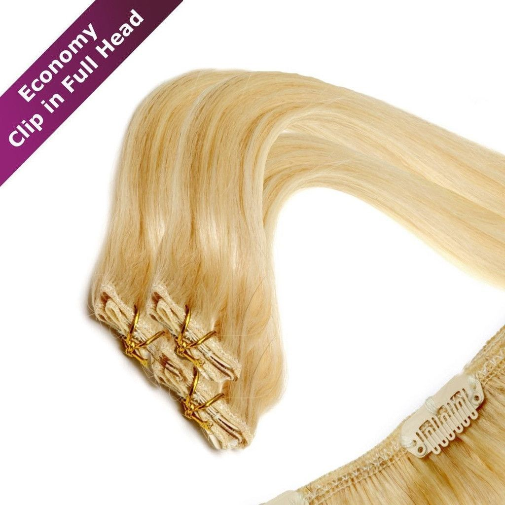 Economy Full Head Clip In Hair Extensions American Pride 18