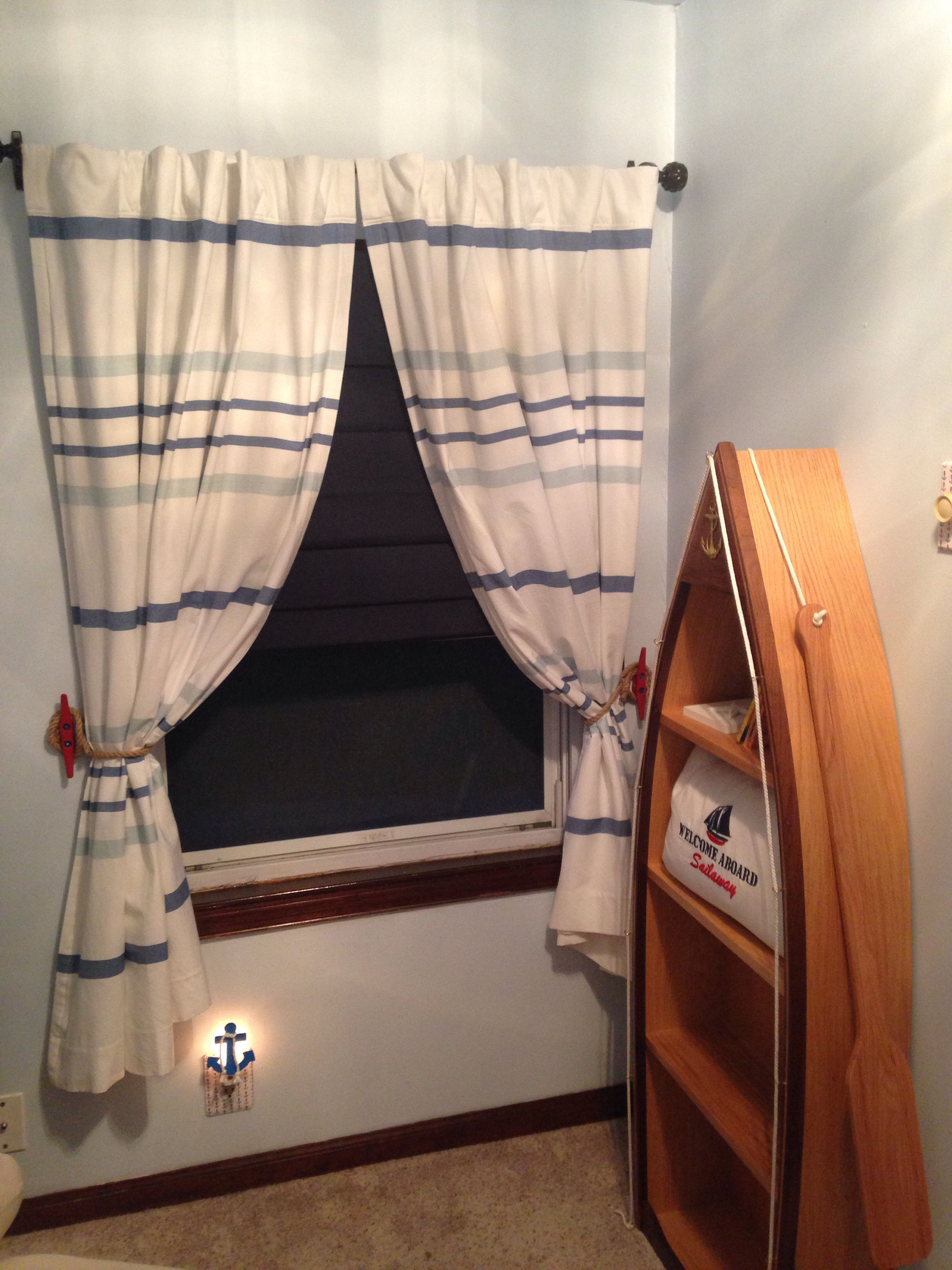 My Nautical Nursery Curtains From Land Of Nod Red Boat Cleat