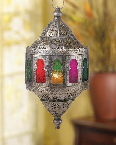 Rustic Moroccan Hanging Lantern