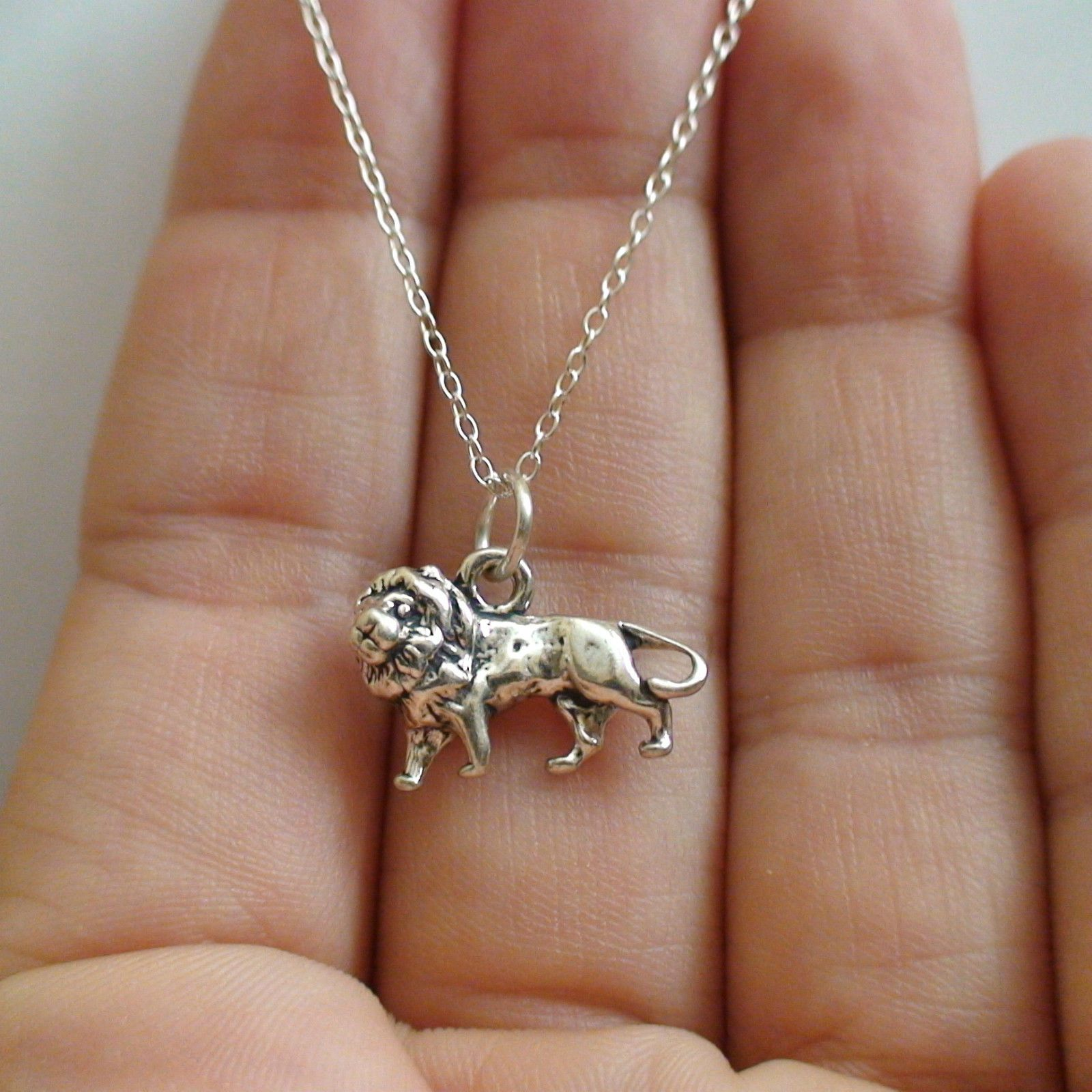 925 Sterling Silver 3D Rhinoceros Safari Zoo Animal NEW Rhino Charm Necklace