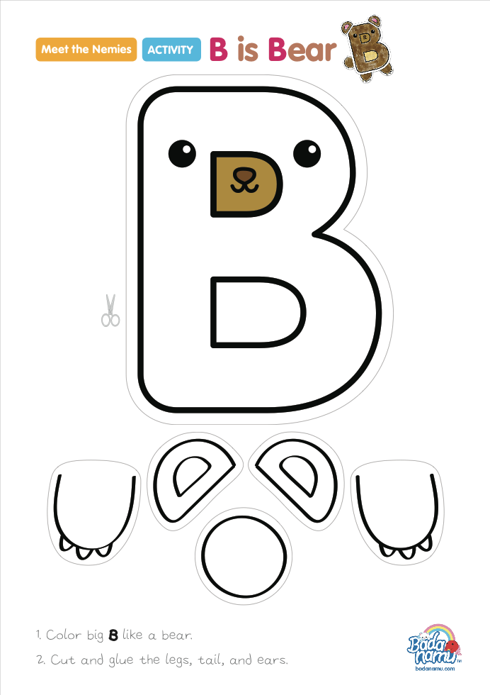 B is Bear\' craft! A whole craft series to go with our Meet the ...