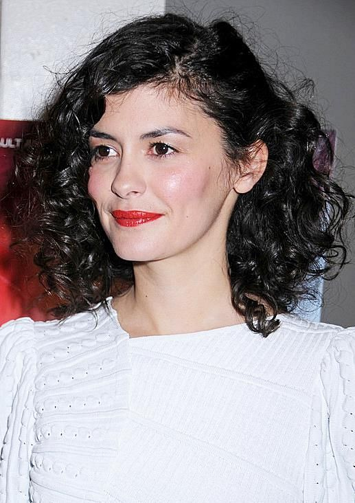 Audrey Tautou Curly Medium Length Hair Jpg 517