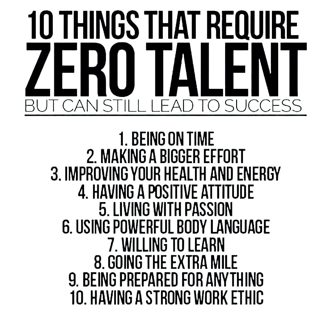 10 Things That Require Zero Talent But Can Still Lead To Success
