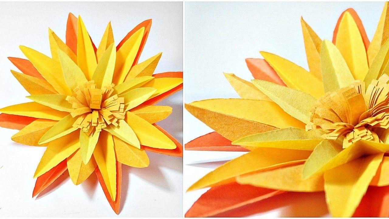 Origami Marigold Flower Diy 3d Marigold Paper Flowers Making