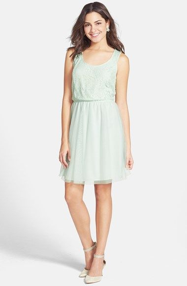 Frenchi® Frenchi Lace Bodice Skater Dress (Juniors) available at  Nordstrom a81453265