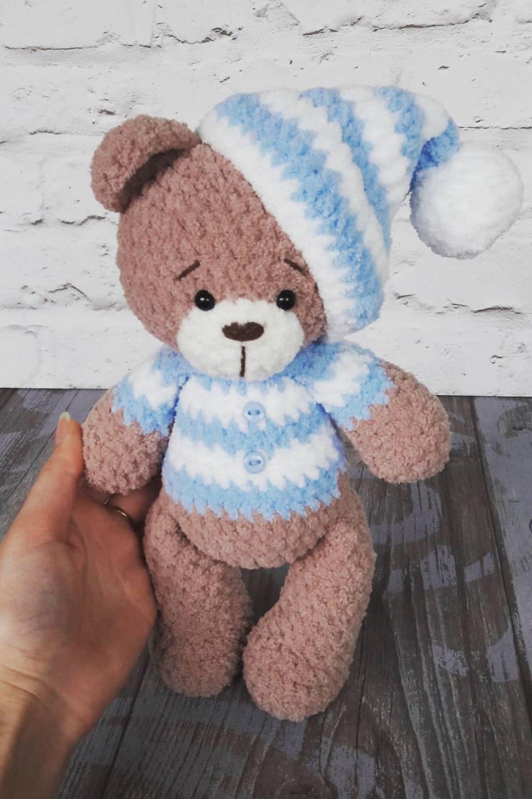 50 Free Crochet Teddy Bear Patterns ⋆ DIY Crafts | 1620x1080