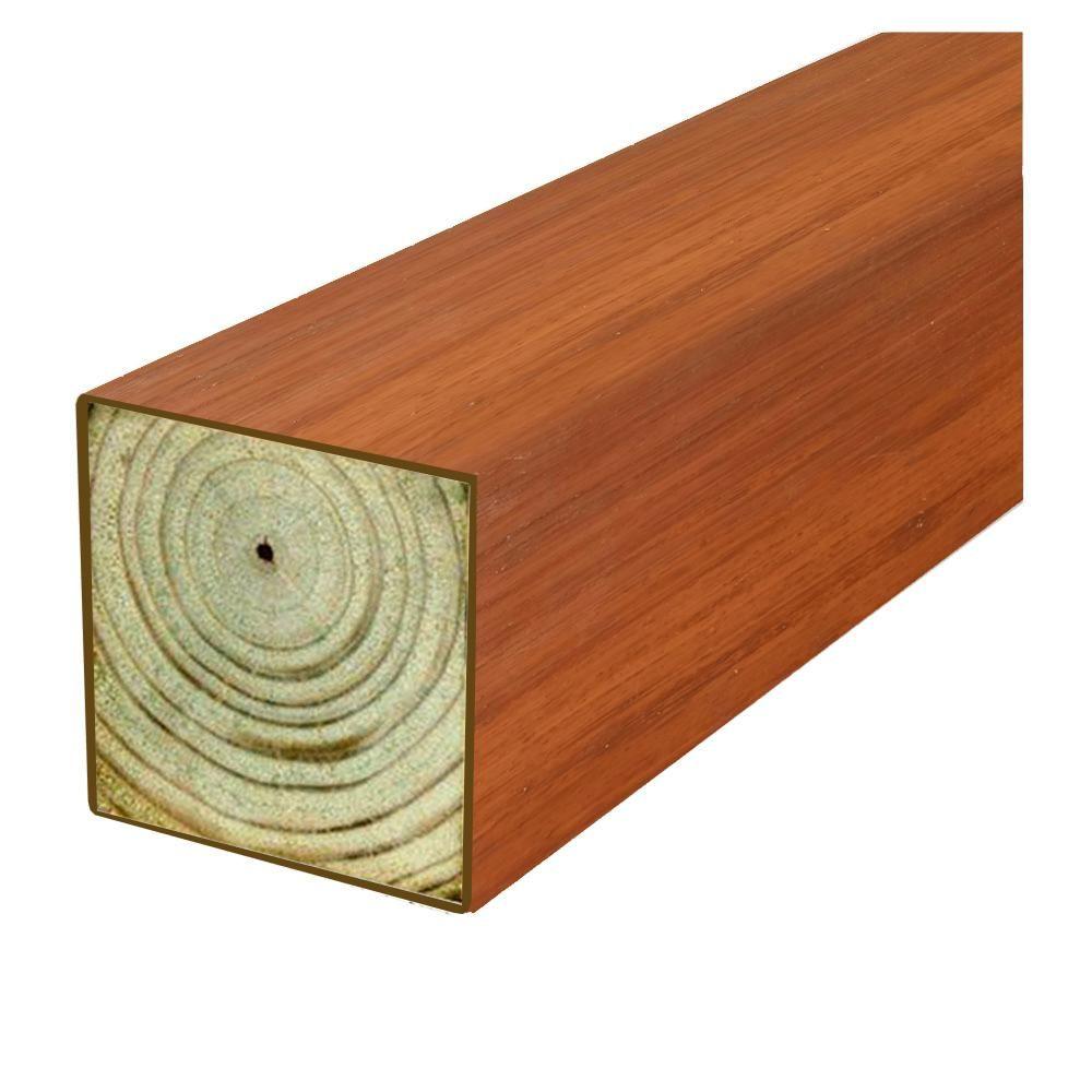 Woodguard 4 In X 4 In X 8 Ft 2 Df Polymer Coated Western Red Cedar Tone Fence Post 04 77 29085 Western Red Cedar Cedar Posts Red Cedar