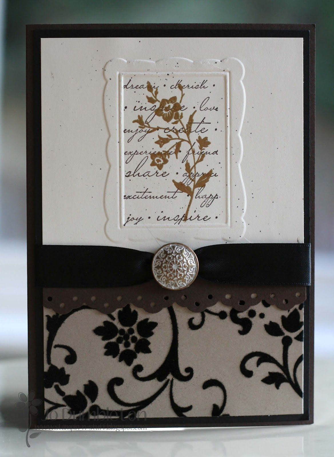 Hochzeitskarte mit geprägtem Rahmen | Karten - Hochzeit/ Liebe ...