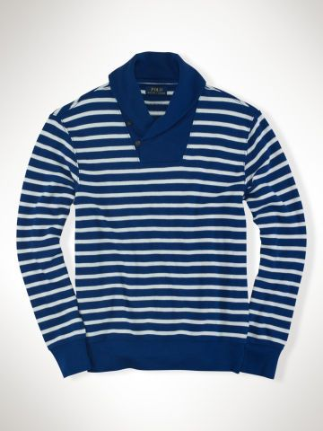 c3583e4dd Striped Shawl Sweatshirt - Polo Ralph Lauren Sweatshirts - RalphLauren.com