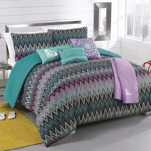 roxy tribal dash 5piece comforter set with body pillow and throw by roxy - Twin Bed Comforters