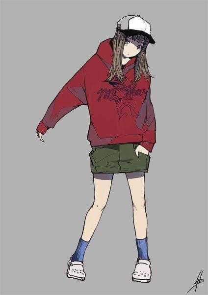 Anime Picture 848x1200 With Original Crocs Nanakawa Nanasoon Long Hair Single Tall Image Looking At Viewer Tomboy Art Character Design Anime Character Design