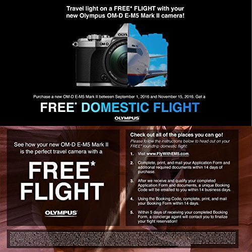 Olympus OM-D E-M5 Mark II (Black) Camera V207040BU000 + Olympus M - free reservation forms