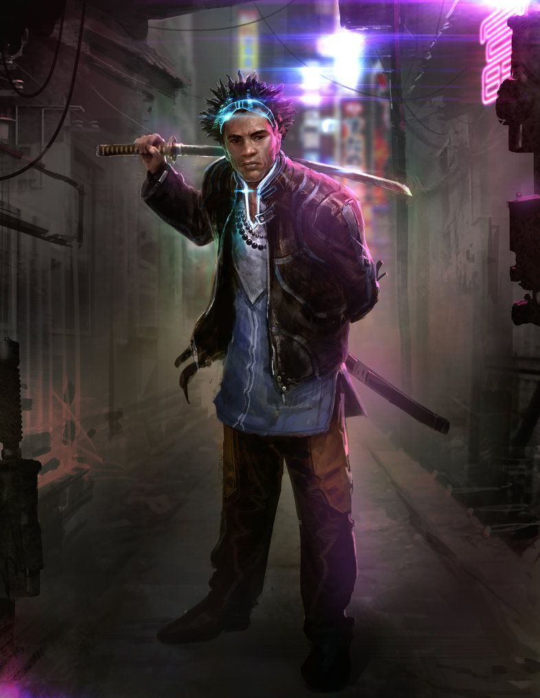 Cyberpunk Concept Art Male
