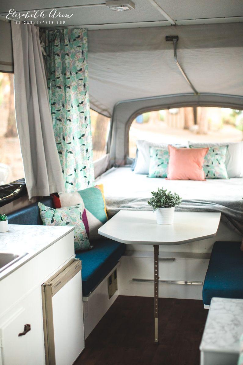 Our Pop Up Camper Remodel Camper Interior Design Remodeled