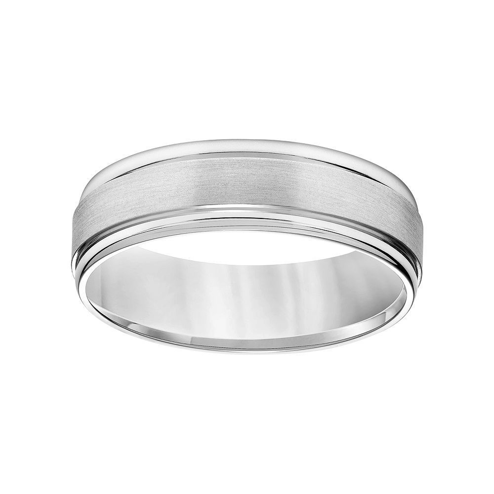 Simply Vera Vera Wang 14k White Gold Men S Wedding Band Size 11