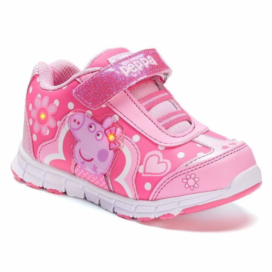 Peppa Pig Light Up Sneakers Shoes Size