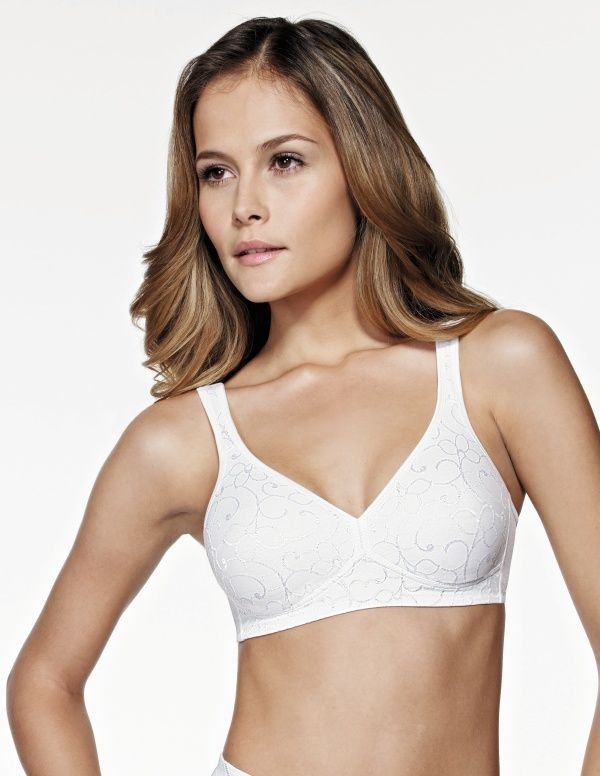 57c4afe80c New  Triumph Elegant Cotton non-wired bra features a feminine jaquard  design to the cotton lined cups and makes an ideal t-shirt bra.