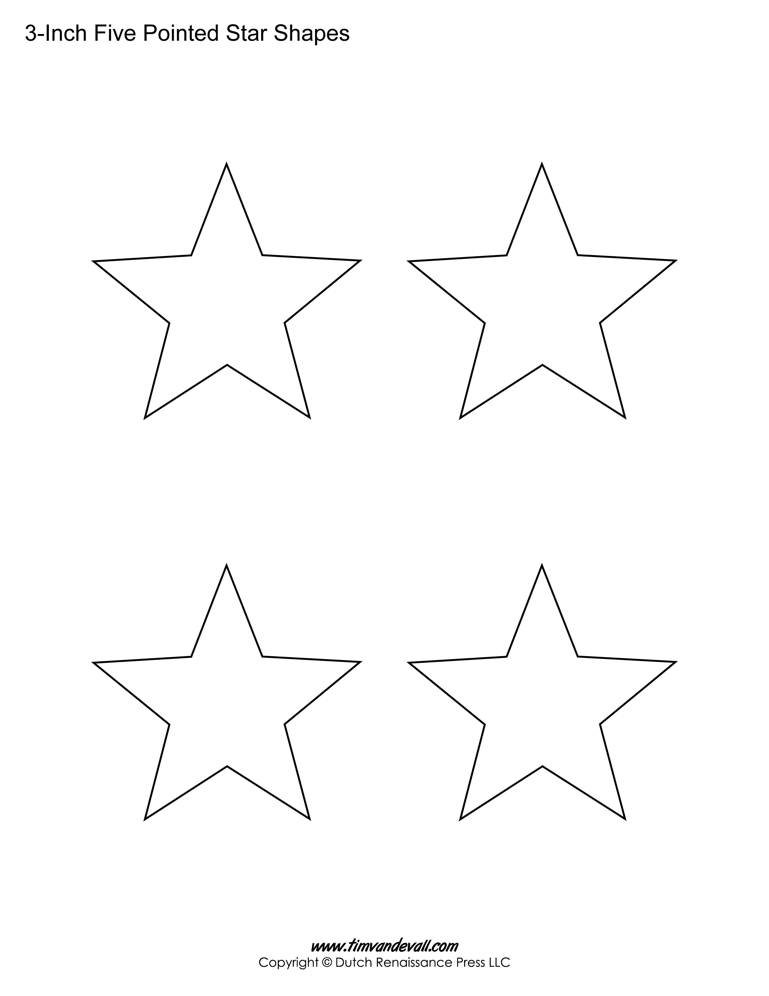 Printable Five Pointed Star Templates Star Template