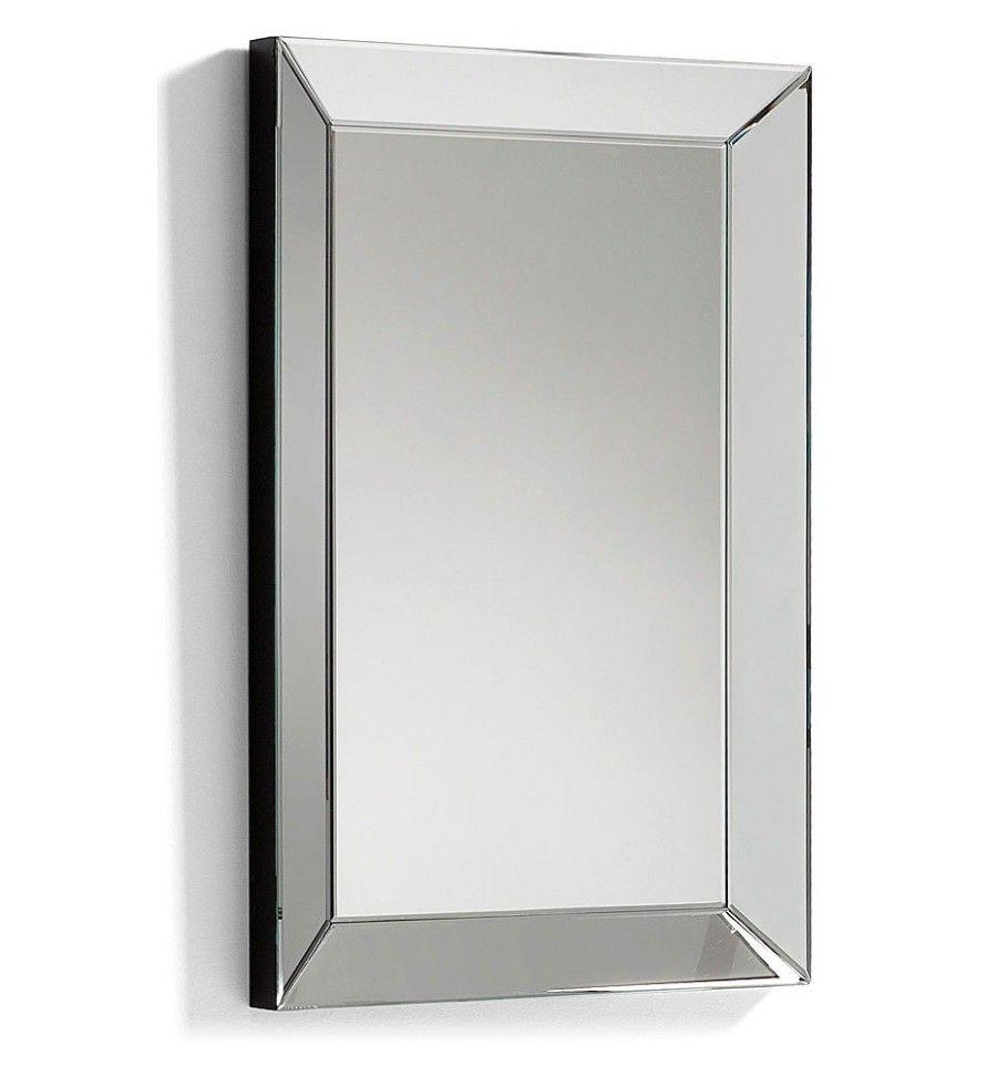 Lena espejo rectangular marco inglete cristal biselado for Espejo marco cristal