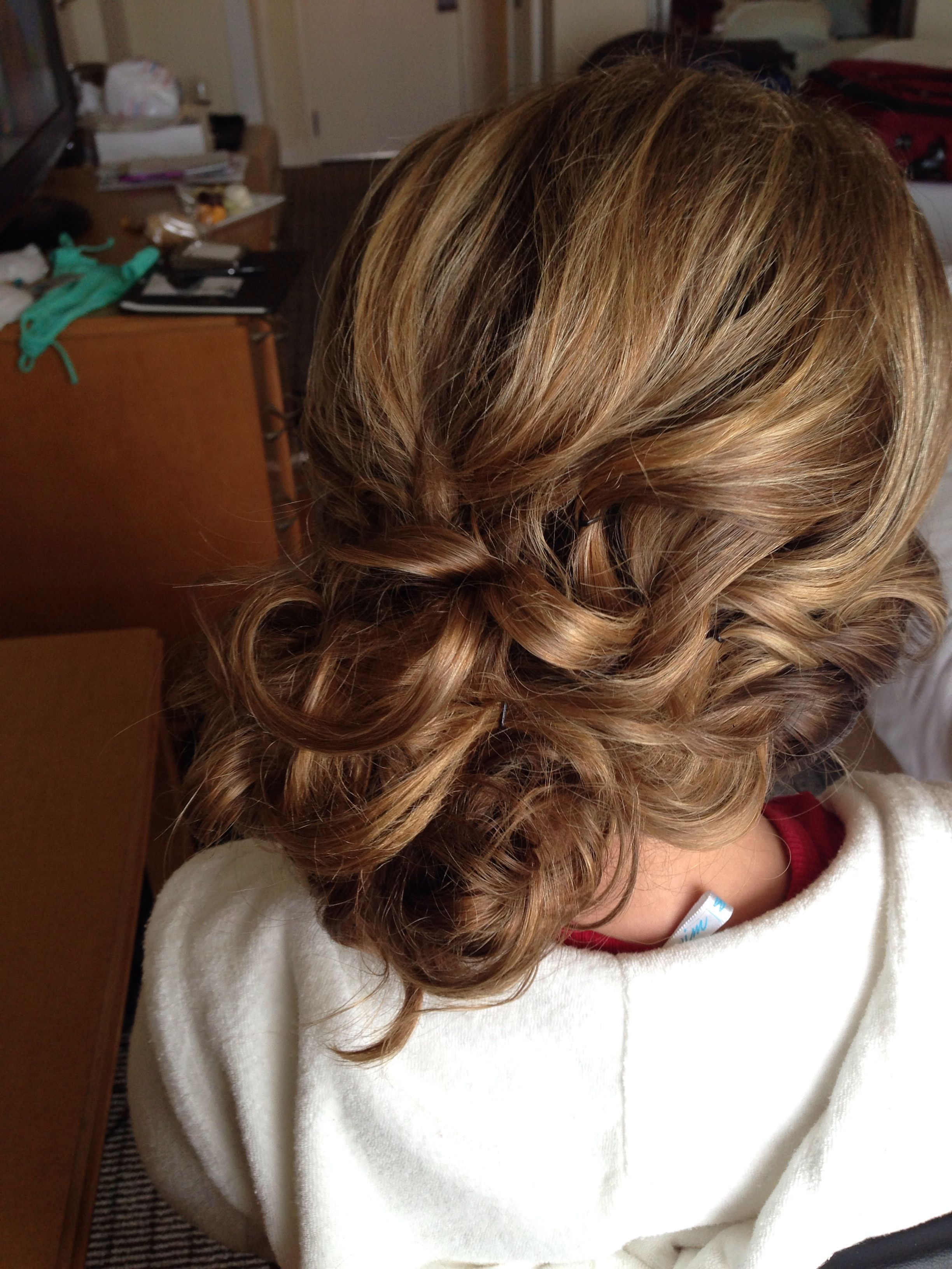 side bun, curly bun, messy bun, updo, beachy hair, wedding